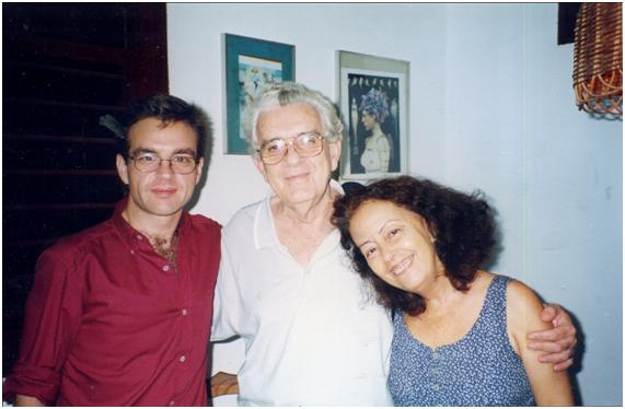 Pablo Pacheco López con Esther Pérez y Néstor Kohan